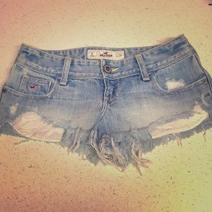Hollister Distressed Short Denim Shorts